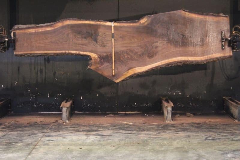 Walnut Slab 920-5, rough size 2.5″ x 16-41″ avg. 26″ x  12′ $975