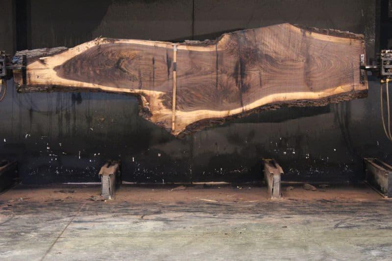 Walnut Slab 920-6, rough size 2.5″ x 10-38″ avg. 25″ x  12′ $800