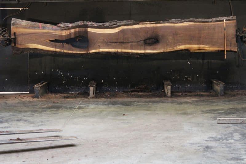 Walnut Slab 955-8, rough size 2.5″ x 17-27 avg. 22″ x  17′ $1050