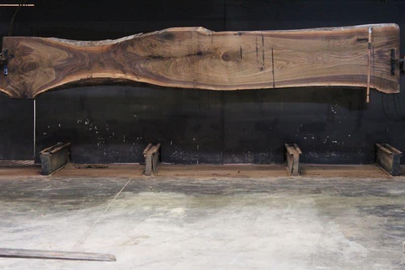 Walnut Slab 973-8, rough size 2.5″ x 15-32″ avg. 25″ x  15′ $1375