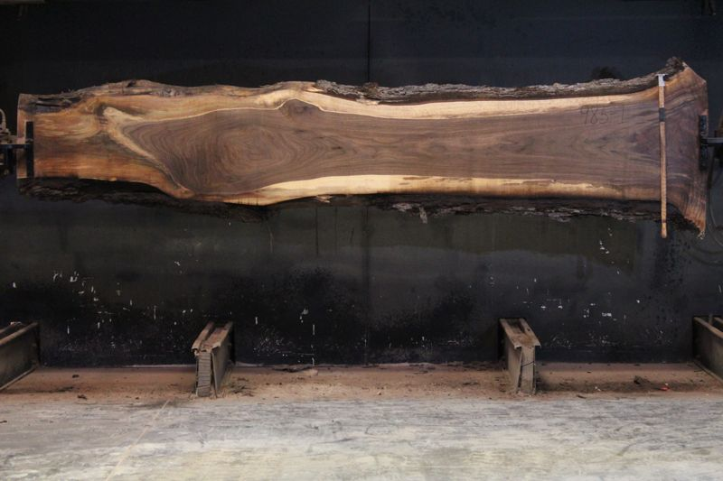 Walnut Slab 985-1 rough size 2.5″ x 14-29″ avg. 21″ x  12′ $900