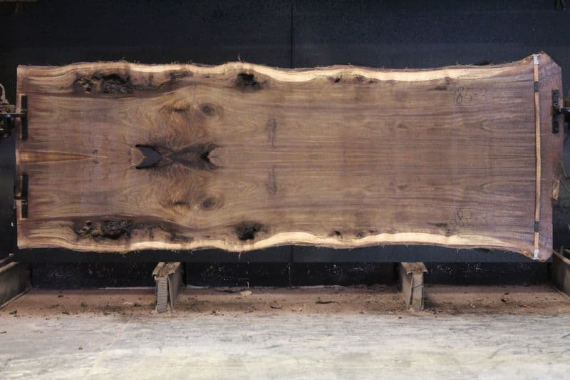 walnut 985-2&3 simulation, approx. size 2″ x 48″ x 12′ Both Rough Slabs $2550