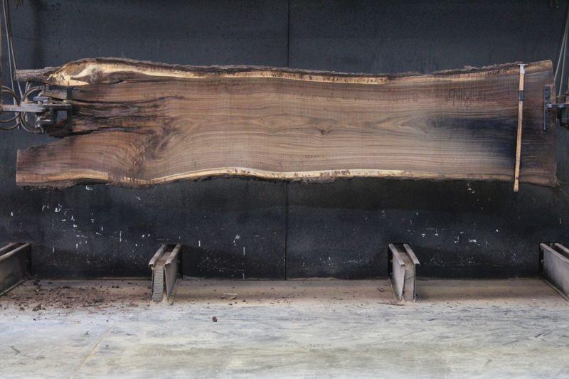 Walnut Slab 998-4, rough size 2.5″ x 28-34″ avg. 29″ x  12′ $1225