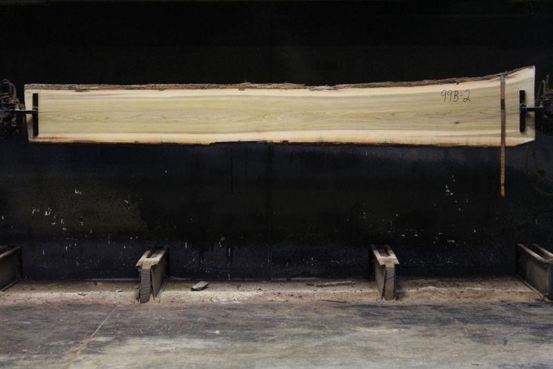 Kiln Dried Poplar Slab 993-2, rough size 2″ x 14-20″ avg. 15″ x 12′ $550
