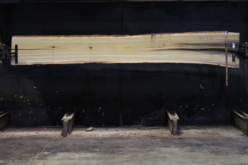 Kiln Dried Poplar Slab 993-4, rough size 2″ x 17-22″ avg. 18″ x 12′ $500