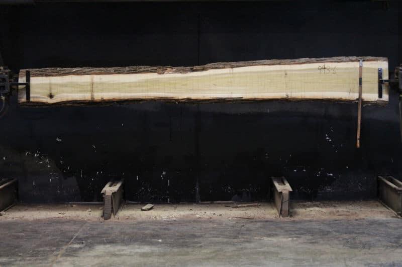 Kiln Dried Poplar Slab 993-6, rough size 2″ x 8-15″ avg. 10″ x 12′ $500