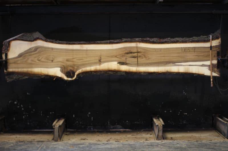 walnut slab 1005-9 rough size 1.75″ x 17-24″ avg. 19″ x 12′