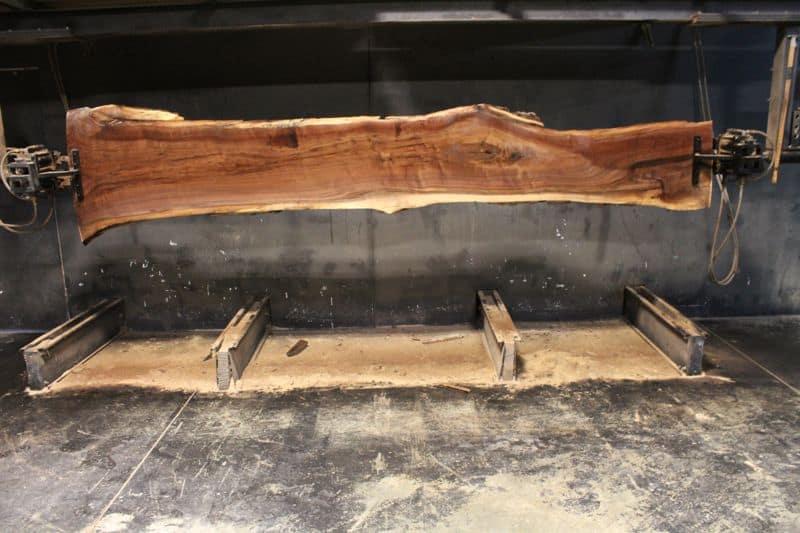kiln dried, surfaced walnut slab 831-1, wide face