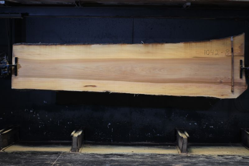 Sycamore Slab 1042-8  rough size 2″ x 29-40″ avg. 32″ x 12′  $775
