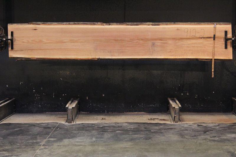 Red Oak Slab 912-2   rough size 2″ x 21-22″ avg. 22″ x 12′  $725