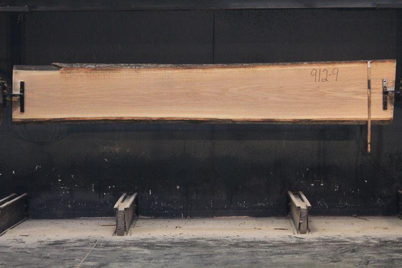 Red Oak Slab 912-9   rough size 2″ x 18-22″ avg. 19″ x 12′  $700