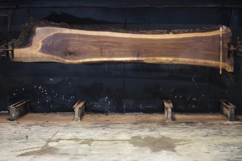 Walnut Slab 1025-8, rough size 2.5″ x 7-30″ avg. 21″ x 14′ $1100
