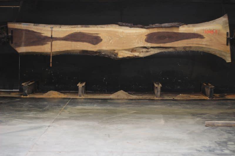 Walnut Slab 1045-1, rough size 2.5″ x 27-40″ avg. 31″ x 16′ $2200