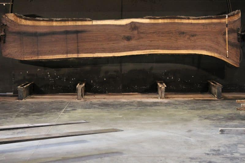 Walnut Slab 947-3, rough size 2.5″ x 29-42″ avg. 30″ x 16′ $2200