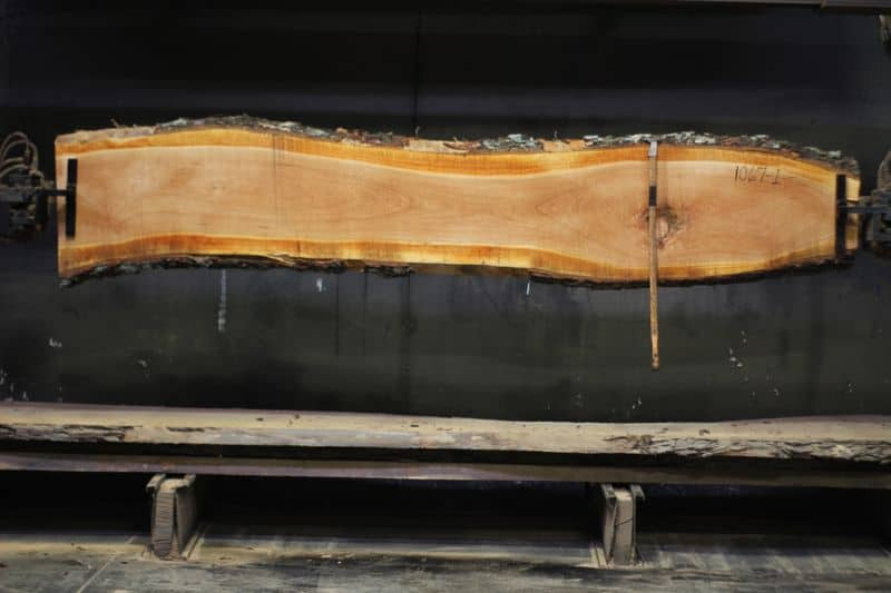 Cherry Slab 1067-1, rough size 2″ x 13-20″ avg. 19″ x 10′ $550