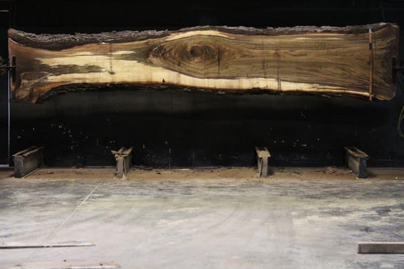 Walnut Slab 976-10, rough size 2.5″ x 17-35″ avg. 24″ x 15′ $1350