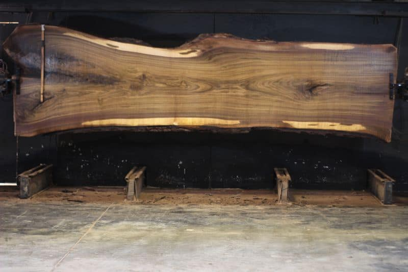 walnut slab 1014-5 rough size 2.5″ x 35-52″ avg. 40″ x 14′ $3500