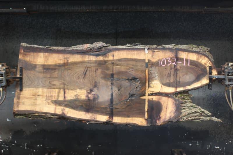 walnut slab 1032-11 rough size 2.5″ x 15-38″ avg. 29″ x 9′ $875