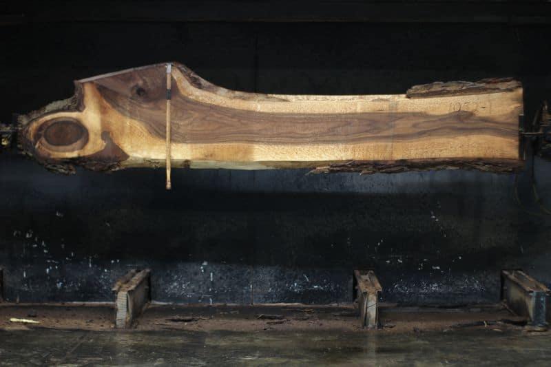walnut slab 1052-1 rough size 2″ x 11-27″ avg. 17″ x 10′ $495
