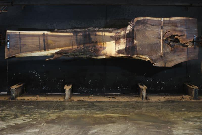 walnut slab 1052-12 rough size 2″ x 21-45″ avg. 25″ x 14′ $495