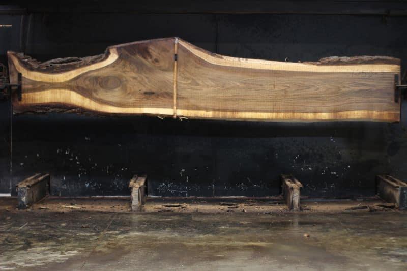 walnut slab 1052-3 rough size 2″ x 12-34″ avg. 25″ x 14′ $1215