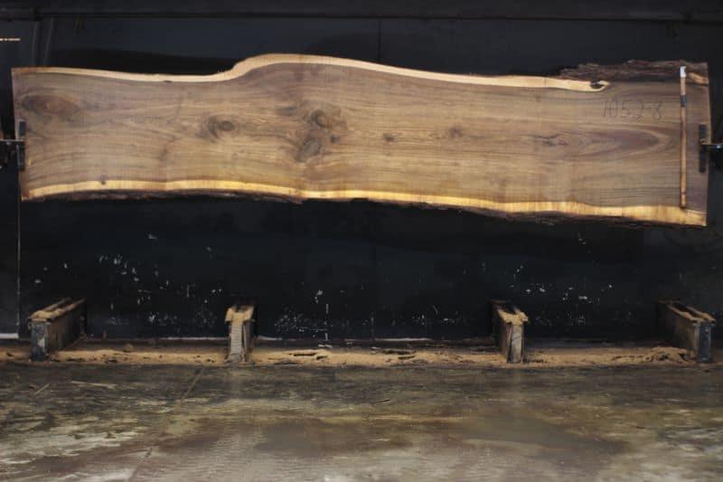 walnut slab 1052-8 rough size 2″ x 28-38″ avg. 33″ x 14′ $1825