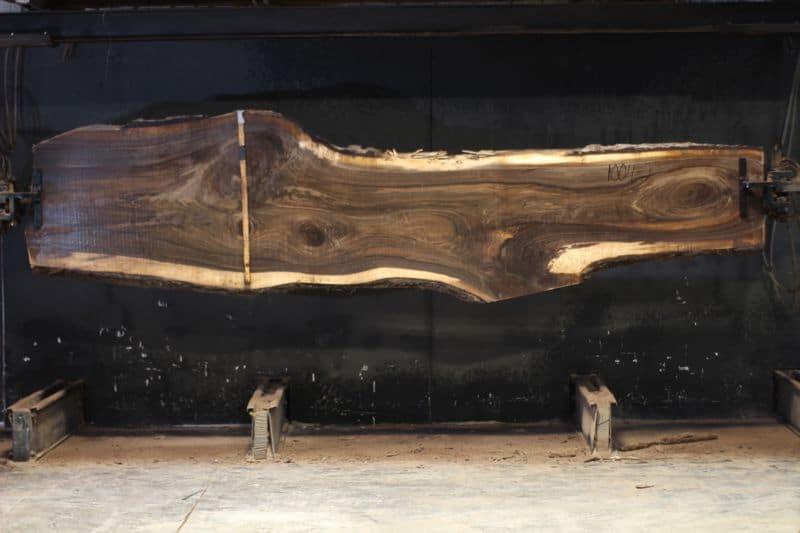 walnut slab 1004-2 rough size 2.5″ x 21-37″ avg. 27″ x 12′ $1160