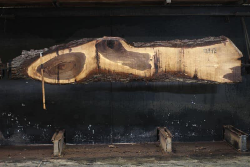 walnut slab 1011-12 rough size 2.0″ x 8-25″ avg. 15″ x 12′ $545