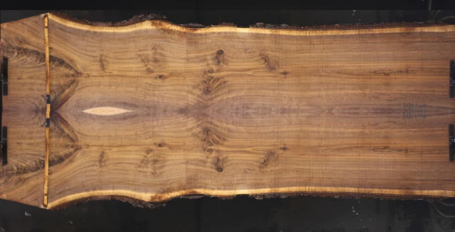 walnut 1011-5&6 simulation, approx. size 1.75″ x 52″ x 12′ Both Rough Slabs $2400