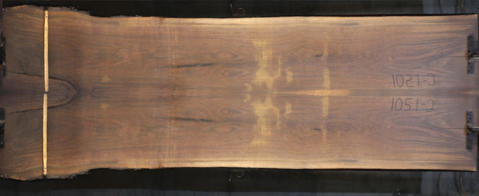 walnut 1051-1&2 simulation, approx. size 1.75″ x 44″ x 12′ Both Rough Slabs $1900