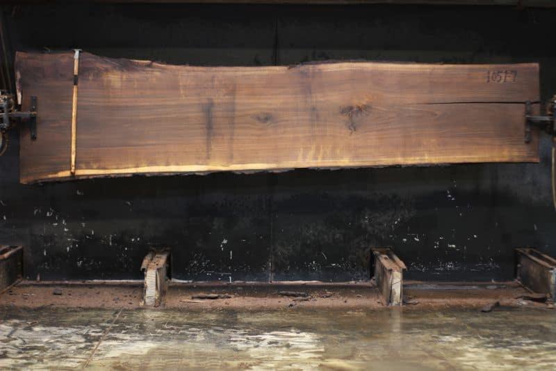 walnut slab 1051-7 rough size 2″ x 29-36″ avg. 30″ x 12′ $1100