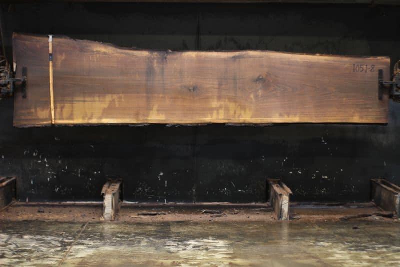 walnut slab 1051-8 rough size 2″ x 26-35″ avg. 29″ x 12′ $1070