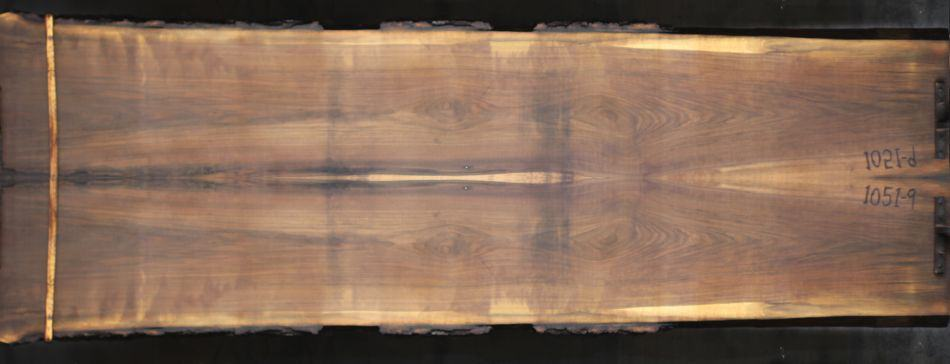 walnut 1051-9&10 simulation, approx. size 1.75″ x 38″ x 12′ Both Rough Slabs $1800