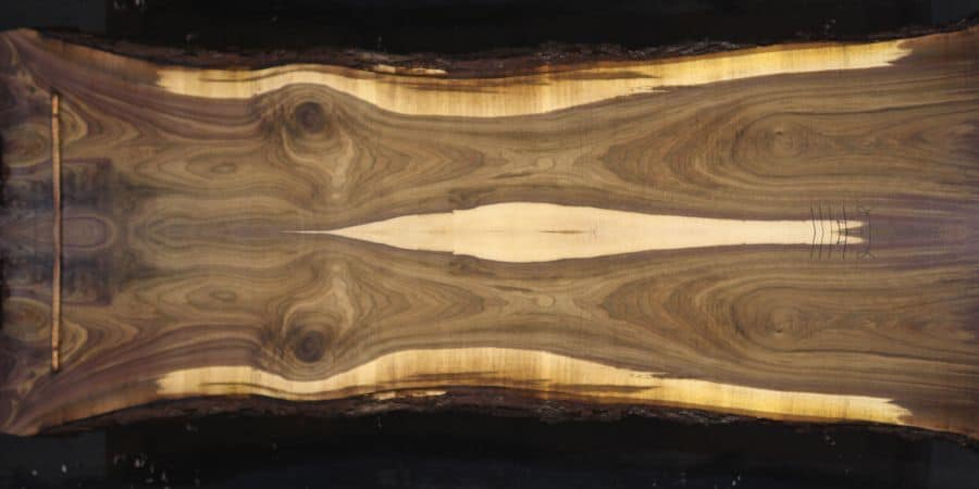 walnut 1014-1&2 simulation, approx. size 2″ x 44″ x 14′ Both Rough Slabs $3100