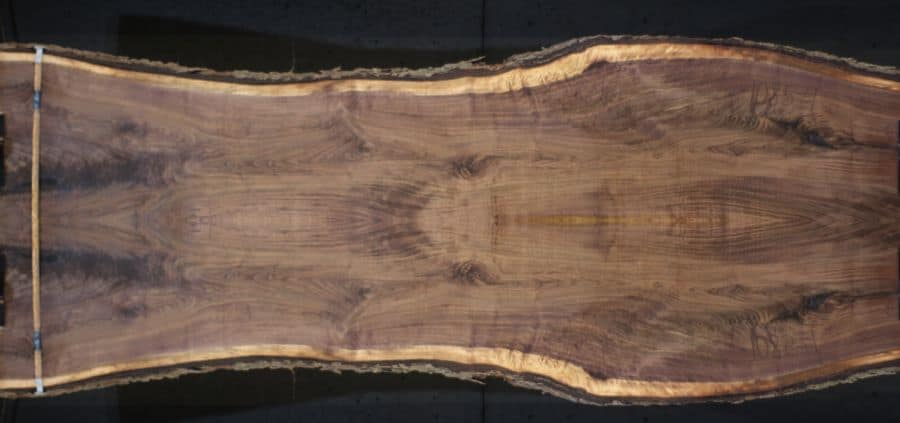 walnut 1085-3&4 simulation, Approx. size 1.75″ Thick x 46″ wide x 12' long.  $2200  * Sale pending #21-3036