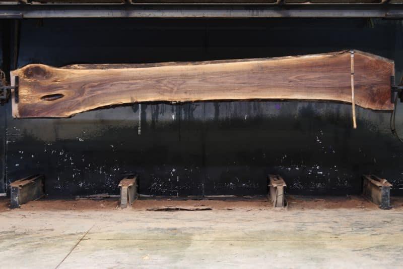 walnut slab 1126-1 rough size 2″ x 15-24″ avg. 19″ x 14′ $725