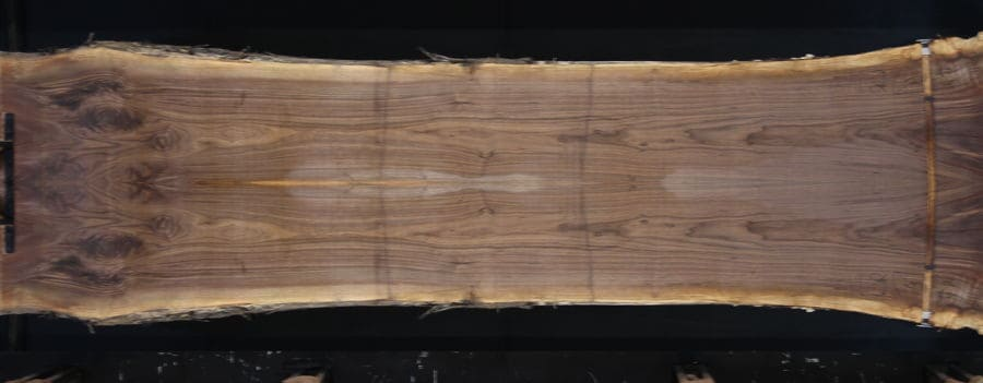 walnut 1126-8&9 simulation, approx. size 1.75″ x 40″ x 14′ Both Rough Slabs $2200
