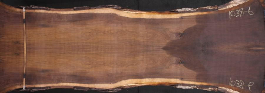 walnut 1038-6&7 simulation, approx. size 2″ x 50″ x 14′ Both Rough Slabs $2800