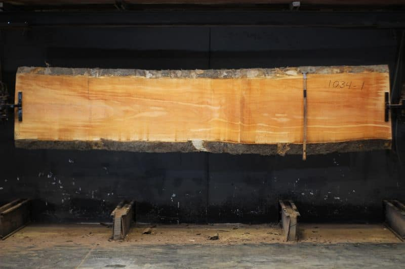 Sycamore slab 1034-1, rough size 2.5″ x 25-27″ avg. 26″ x 12′ $750 SALE PENDING PO 21-8045