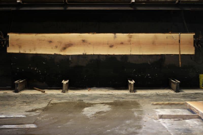 White Oak Slab 1095-3, rough size 2.5″ x 20-22″ avg. 21″ x 16′ $875 SALE PENDING 21-8045