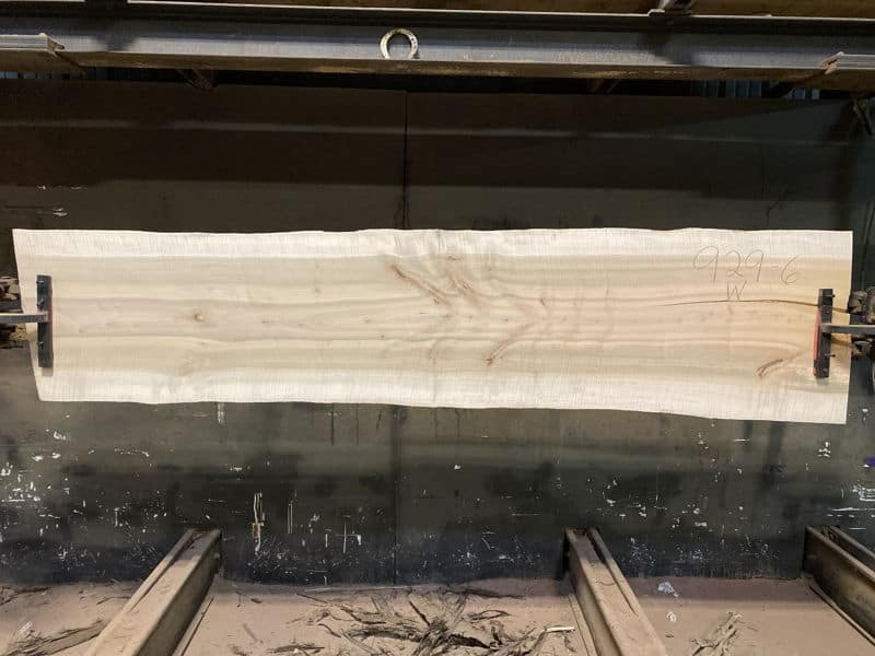 surfaced maple slab 929-6,  wider face (reverse face)