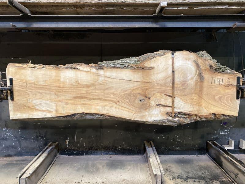 ash slab 1191-3 rough size 2.5″ x 21-37″ avg. 26″ x 10′ $795
