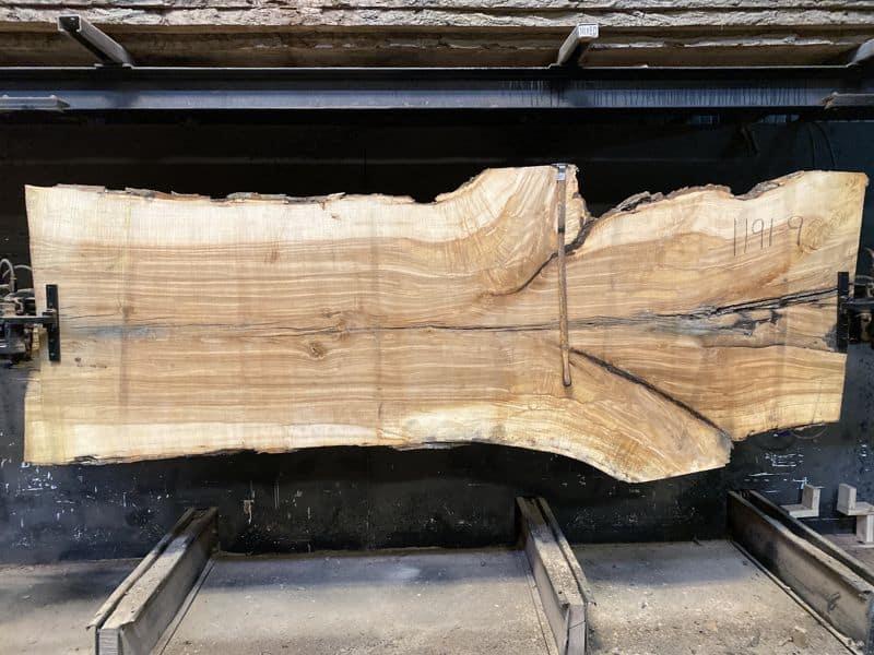 ash slab 1191-9 rough size 2.5″ x 38-46″ avg. 41″ x 10′ $1100