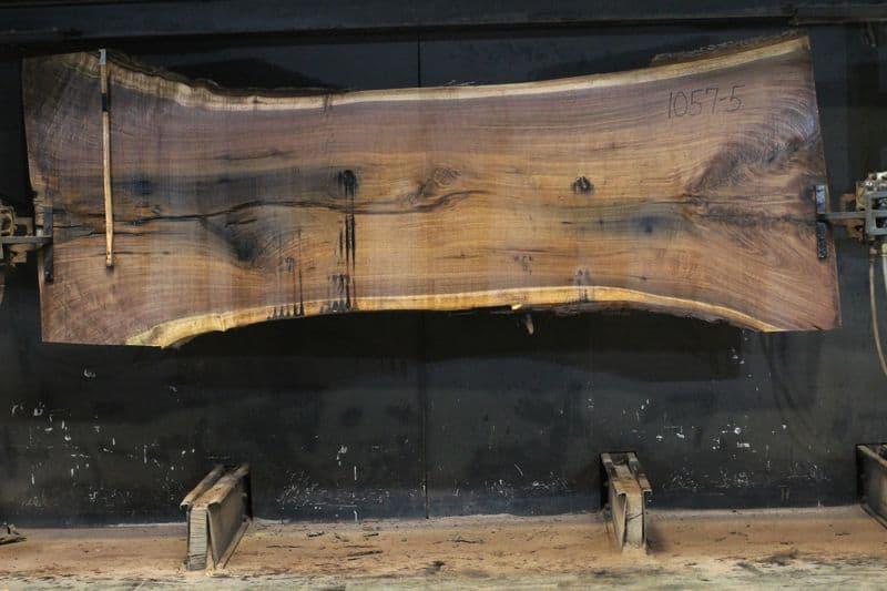 walnut slab 1057-5 rough size 3″ x 36-48″ avg. 40″ x 10′ $2350