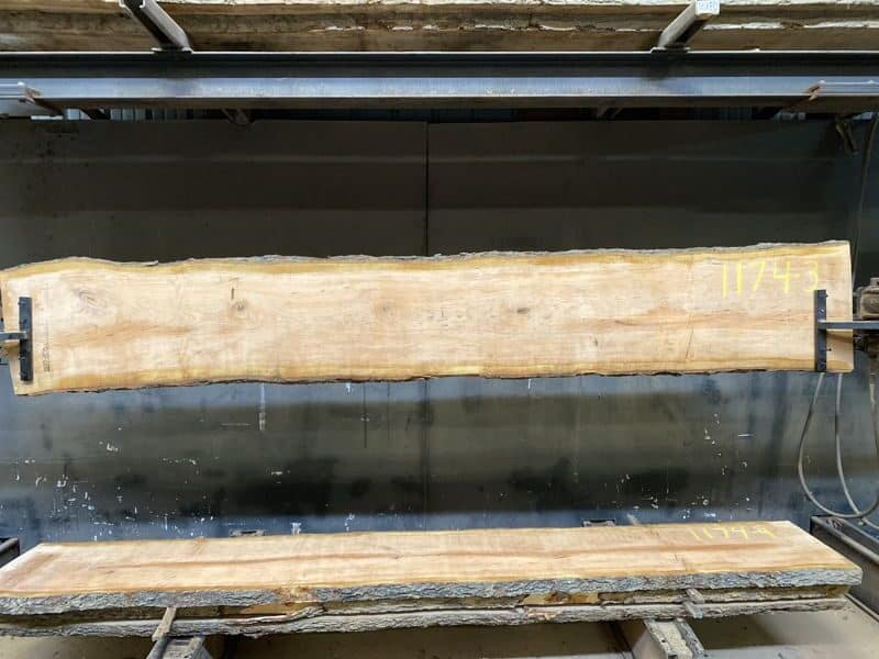 cherry slab 1174-3 rough size 2″ x 16-18″ avg. 17″ x 10′ $600