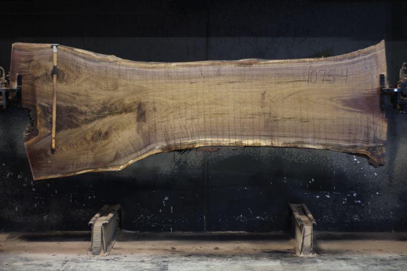 walnut slab 1075-4 rough size 2.5″ x 28-46″ avg. 32″ x 10′ $1250