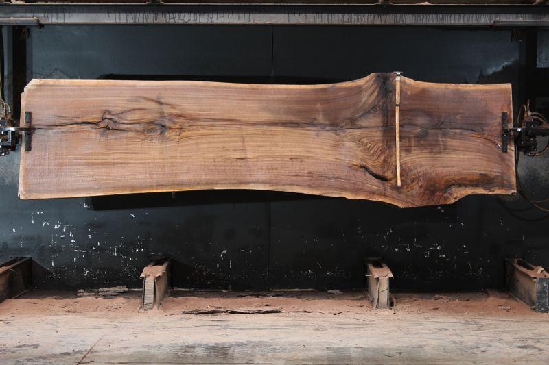 walnut slab 1125-5 rough size 2.5″ x 33-40″ avg. 35″ x 12′ $2450