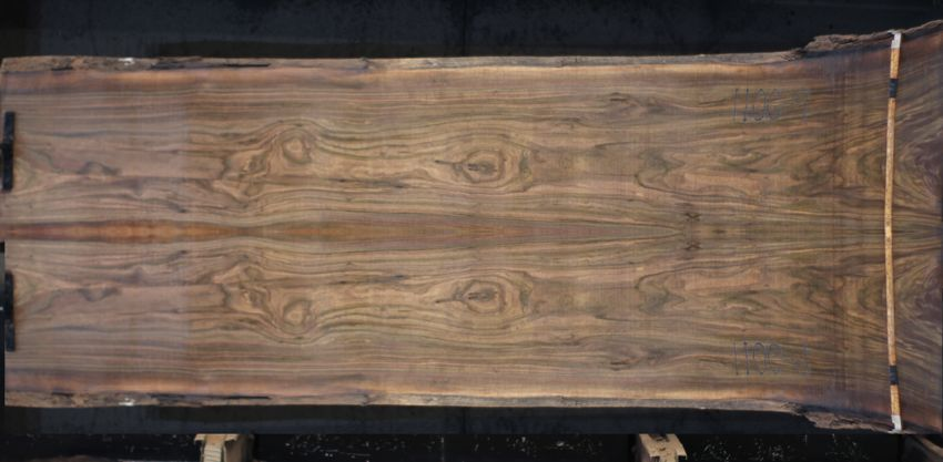 walnut slabs 1100-9&10 bookmatch simulation, Approx. size 2″ Thick x 48″ wide x 12' long $2950