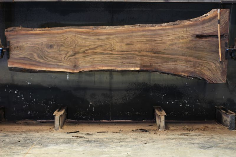 walnut slab 1100-2 rough size 2.5″ x 24-51″ avg. 29″ x 12′ SALE PENDING PO 21-8049