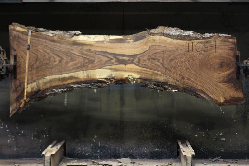walnut slab 1106-1 rough size 2.5″ x 17-35″ avg. 24″ x 9′ $850